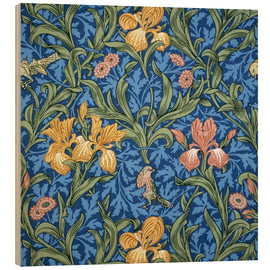 Trätavla  Iris - William Morris