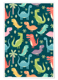 Premiumposter  Colorful dinosaurs - Kidz Collection