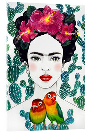 Akrylglastavla  Frida's lovebirds - Mandy Reinmuth