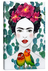 Canvastavla  Frida's lovebirds - Mandy Reinmuth