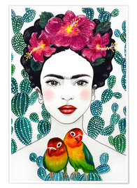 Premiumposter  Frida's lovebirds - Mandy Reinmuth