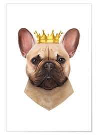 Premiumposter King French Bulldog