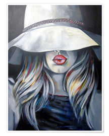 Premiumposter Woman with hat
