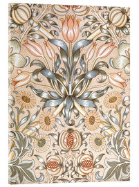 Akrylglastavla  Lily and Pomegranate - William Morris