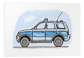 PVC-tavla  Hugos German police car - Hugos Illustrations