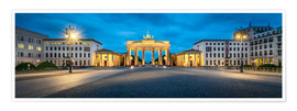 Premiumposter  The Brandenburg Gate at night, Berlin, Germany - Jan Christopher Becke