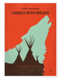 Poster No949 My Dances with Wolves minimal movie poster