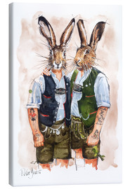 Canvastavla  Gay Rabbits - Peter Guest