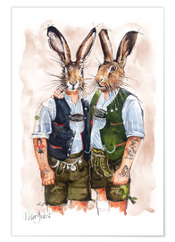 Premiumposter  Gay Rabbits - Peter Guest
