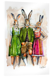 Akrylglastavla  Dude Rabbit & Bunnies - Peter Guest