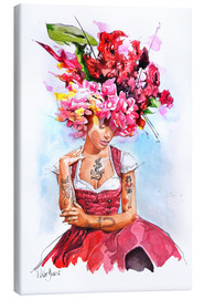 Canvastavla  Flowers in hair - Peter Guest