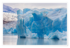 Premiumposter  Iceberg at Gray Glacier, Patagonia, Chile - Circumnavigation