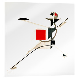 Akrylglastavla  the new man - El Lissitzky