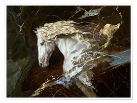 Premiumposter horse on marble