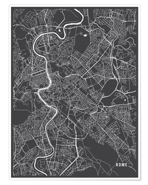 Premiumposter Rome Italy Map