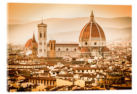 Akrylglastavla  Cityscape with Cathedral and Brunelleschi Dome, Florence - Cubo Images