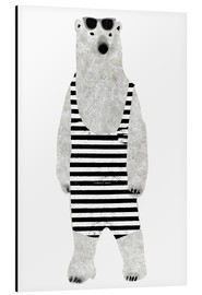 Aluminiumtavla  Polar bear in a bathing suit