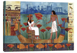 Canvastavla  Egyptian couple on the Nile