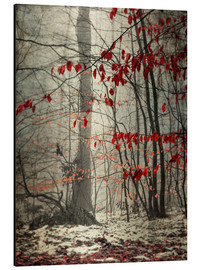 Aluminiumtavla  Winter forest with last leaves - Westend61