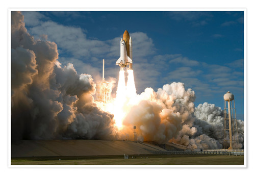 Premiumposter Space shuttle Atlantis lifts off