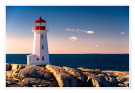 Premium poster  Peggy´s Point Lighthouse - age fotostock