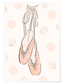 Premiumposter  Ballet shoes on the wall