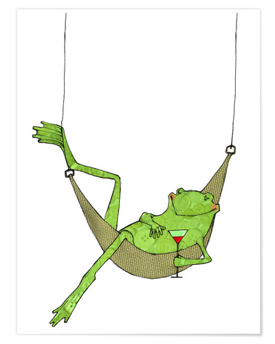 Poster Lazy frog