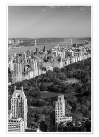Premiumposter  Central Park in black and white - Walter Bibikow