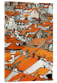Akrylglastavla  The roofs of Dubrovnik - Axiom RF