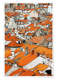 Premiumposter  The roofs of Dubrovnik - Axiom RF