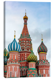 Canvastavla  St. Basil's Cathedral at Red Square in Moscow - Click Alps