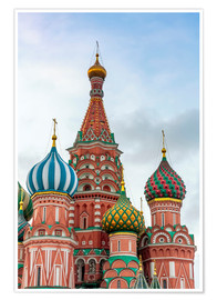 Premiumposter  St. Basil's Cathedral at Red Square in Moscow - Click Alps