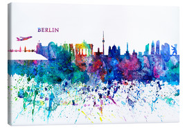 Canvastavla  Skyline BERLIN Colorful Silhouette PL - M. Bleichner
