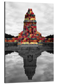 Aluminiumtavla  Monument to the battle of the nations Colour Pop
