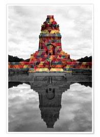Premiumposter  Monument to the battle of the nations Colour Pop