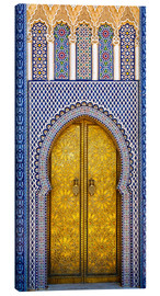 Canvastavla  Decorated door of the royal palace - Brenda Tharp