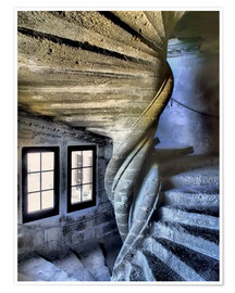Premiumposter Stairs in the Chateau de Lourmarin