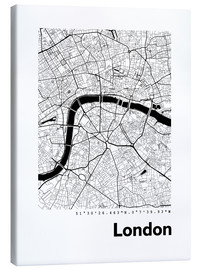 Canvastavla  City map of London - 44spaces