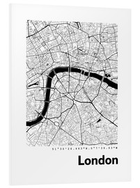 PVC-tavla  City map of London - 44spaces