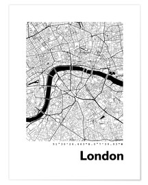 Premiumposter  City map of London - 44spaces