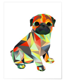 Premiumposter  Molly Pug 2 - Miss Coopers Lounge