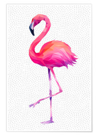 Premiumposter  Flamingo 1 - Miss Coopers Lounge