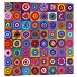 Akrylglastavla  Square of circles according to Kandinsky - David Newton