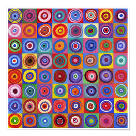Premiumposter Square of circles according to Kandinsky