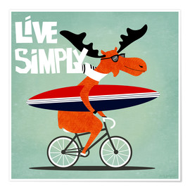 Premiumposter gaby jungkeit live simply