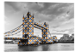 Akrylglastavla  Tower Bridge Colour Pop
