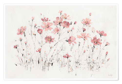 Poster Wildflowers in pink