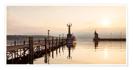 Premiumposter  Morning mood in Constance on Lake Constance - Dieterich Fotografie