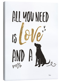 Canvastavla  All you need is love and a dog - Veronique Charron