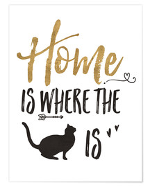 Poster  Home is where the cat is - Veronique Charron